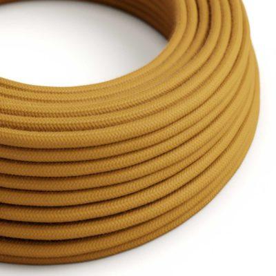 Elektrický kábel dvojžilový potiahnutý bavlnou v medovej farbe, 2 x 0.75mm, 1 meter