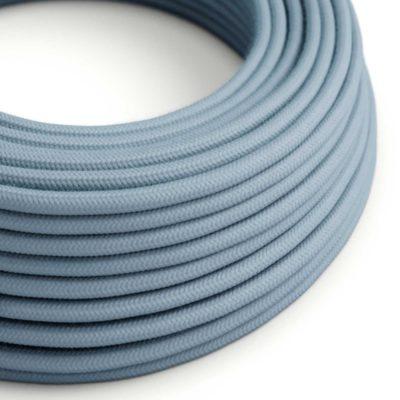 Elektrický kábel dvojžilový potiahnutý bavlnou v oceánovej farbe, 2 x 0.75mm, 1 meter