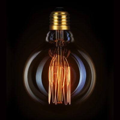Žiarovka v retro štýle, DECOR EDISON G80, E27, 40W, 200lm.