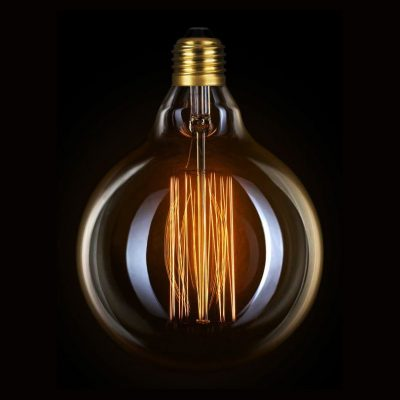 Žiarovka v retro štýle, DECOR EDISON G95, E27, 40W, 200lm.