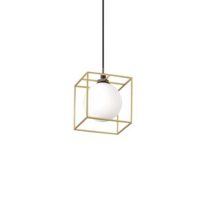 Závesná lampa v mosádznej farbe LINGOTTO SP1   Ideal Lux