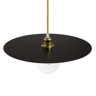 Lakované okrúhle kovové tienidlo v čiernej farbe, priemer 40cm